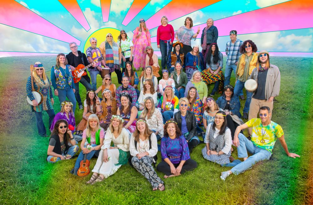 2019: Wishing you Peace, Love and Joy this holiday season. May your 2020 be outta sight! Celebrating the 50th anniversary of the Woodstock music festival.